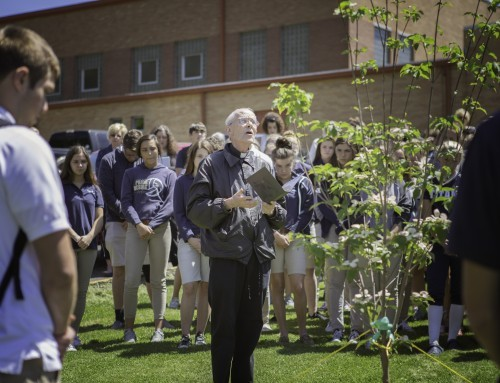 Notre Dame Honors Mr. Haskins with ceremony