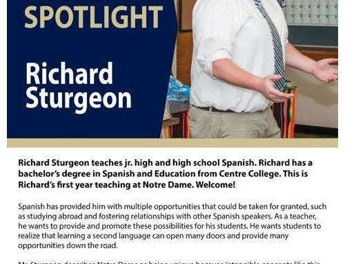 Senor Sturgeon, a first-year Teacher at NDHS