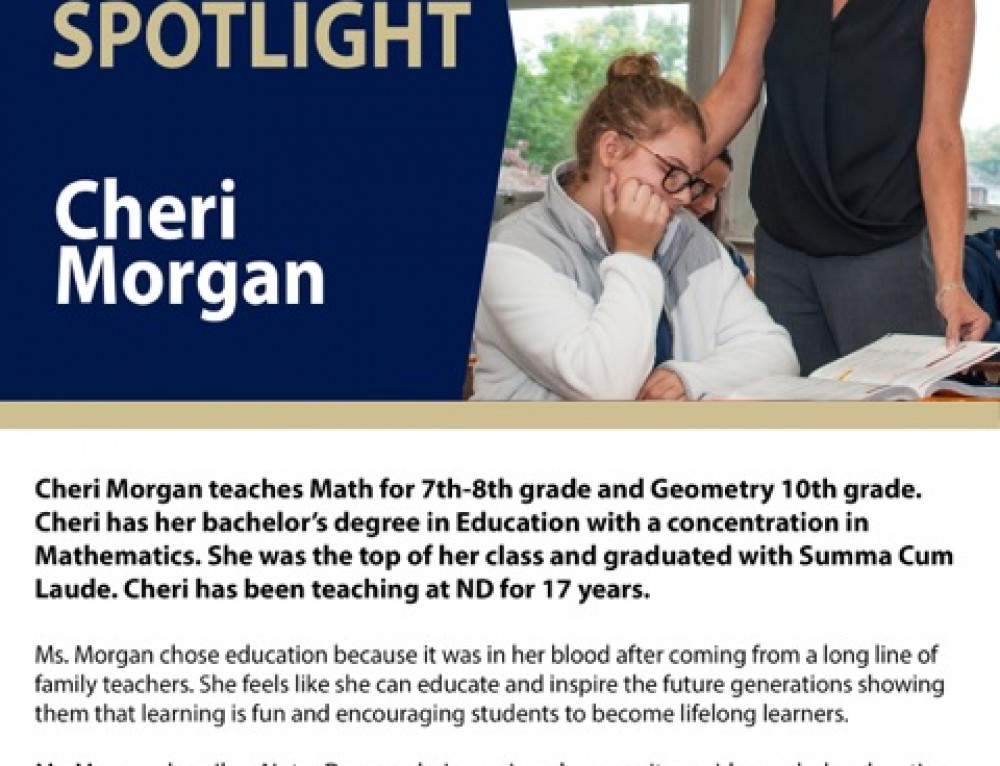 Ms. Morgan was born to Teach !