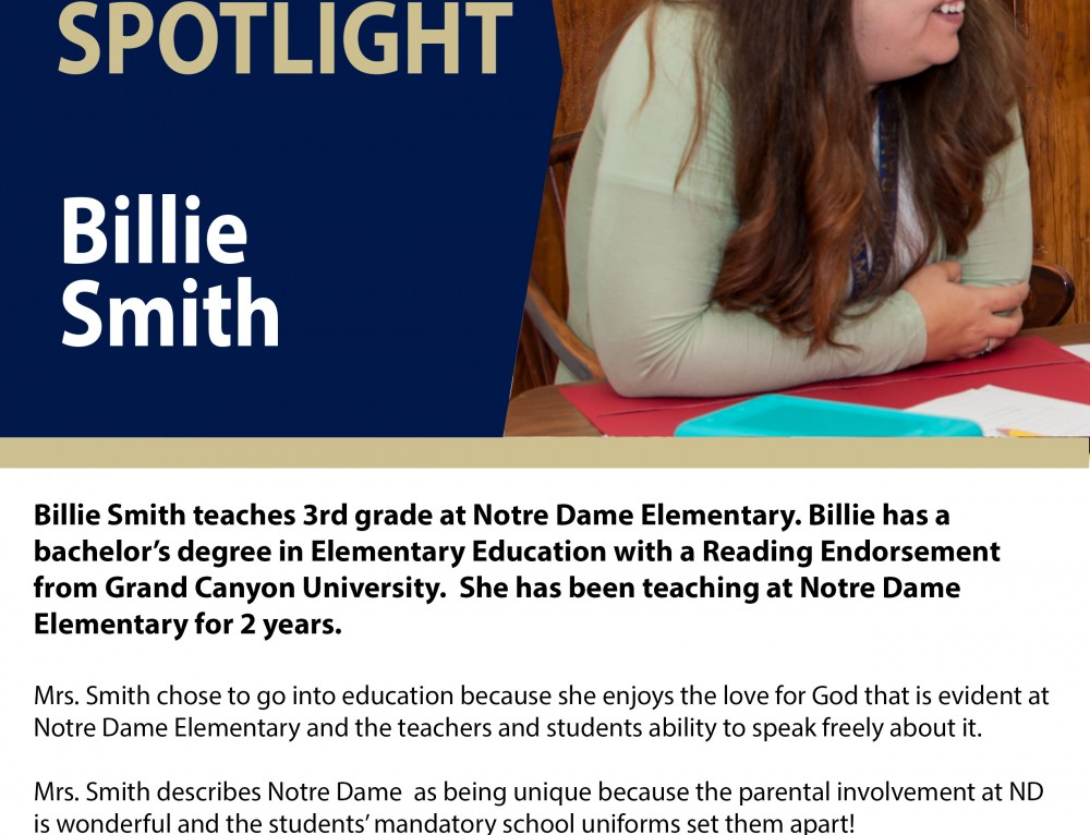 Billie Smith teaches 3rd grade at NDE